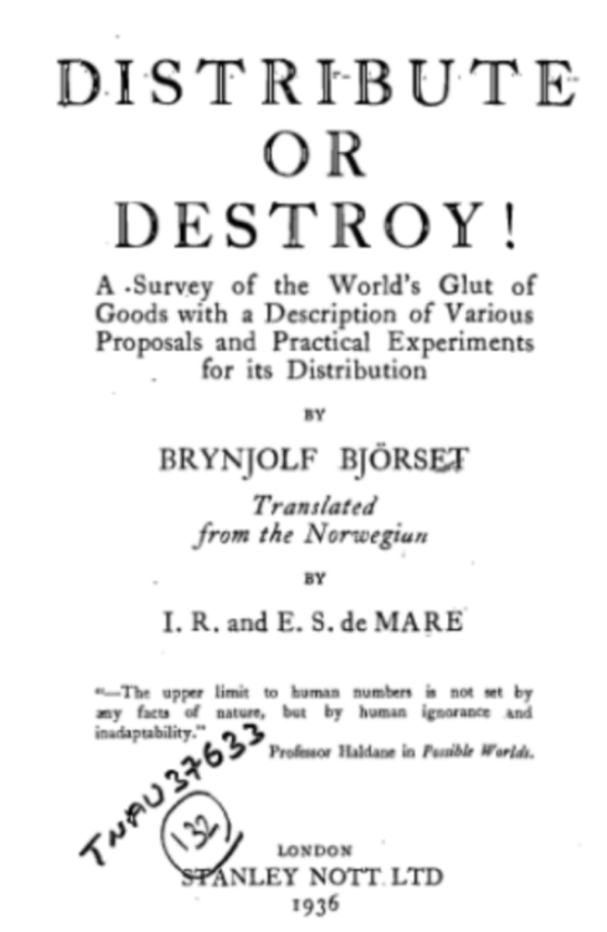 distribute or destroy original title page
